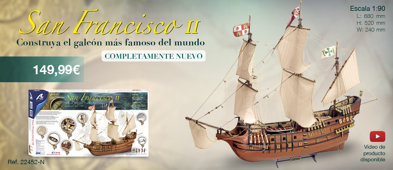 NEW SAN FRANCISCO II GALEÓN S  XVI 1/90