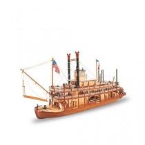 Maqueta de Barco de Vapor en Madera: Rey del Mississippi II 1/80
