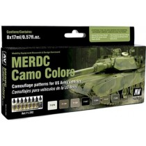 MERDC CAMO COLORS (8 BOTES 17ML)