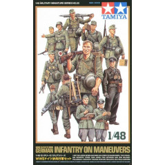 German (WWII) Infantry on maneuvers x 15 figures 1/48