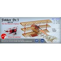 Maqueta Madera Avión Fokker Dr.I, el Triplano del Barón Rojo 1/16