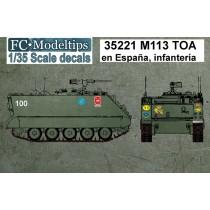 35221 M113 en España, unidades de infantería, calcas a escala 1/35