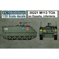 Calcas M113 en España, unidades de infantería, calcas a escala 1/35