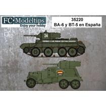 BA-6 y BT-5 en España, calcas a escala 1/35