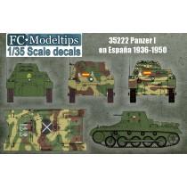 Panzer I en España, calcas escala 1/35