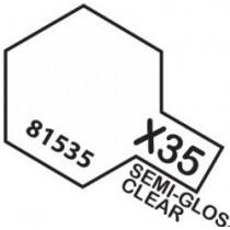 PINTURA ACRILICA X-35, TRANSPARENTE SATINADO