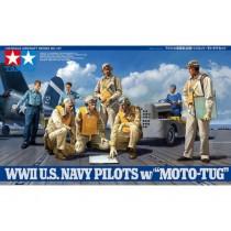 WWII U.S. Navy Pilots w/Moto-Tug 1/48