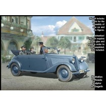 German Military Car, Type 170V, Tourenwagen with Crew WWII 1/35