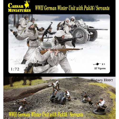 WWII German Winter Unit with Pak-36 and crew 1/72