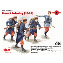 French Infantry 1914 (4 x Figures) Completely new mould kit 1/35