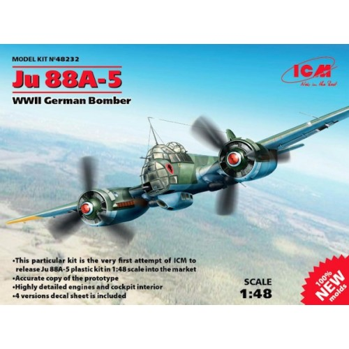 Junkers Ju-88A-5 WWII German Bomber (100% new molds) 1/48