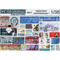 Carteles, posters y vallas en Afganistán 1 escala 1/35