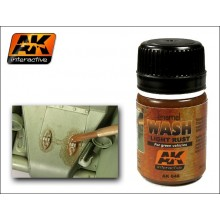 ENAMEL WASH: LIGHT RUST FOR GREEN VEHICLES 35ML.