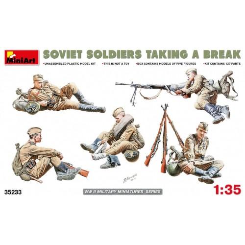 Soviet Soldiers taking a break (WWII)