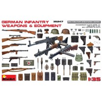 German Infantry WWII equipment and weapons 1/35