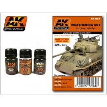 WEATHERING SET FOR GREEN VEHICLES 35ML.