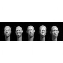 5 heads Sub Saharan Africans 1/35