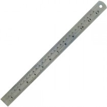 Regla 300mm Acero inox pulg-mm Dismoer