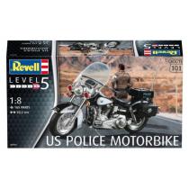 US Police Motorbike. 1/8