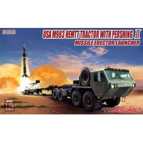 USA M983 Hemtt Tractor With Pershing II Missile Erector Laungher 1/72