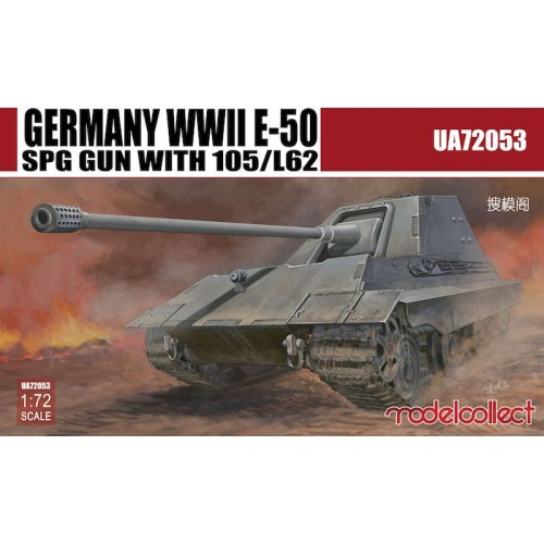 Germany WWII E-50 SPG GUN with 105/L62 1/72