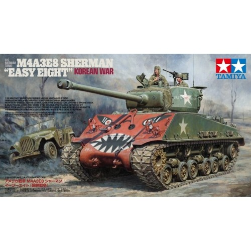 "U.S. Medium Tank M4A3E8 Sherman ""Easy Eight"" Korean War 1/35"