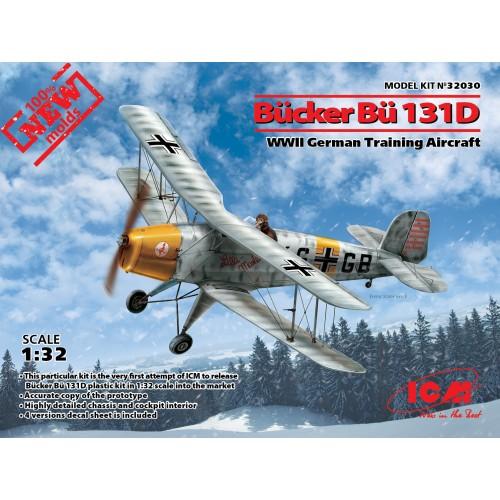 Bucker Bu-131D WWII German Training Aircraft (100% new molds) 1/32