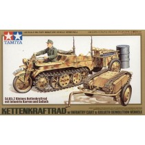 Sd.Kfz.2 Kettenkrad with Goliath Infantry Cart 1/48