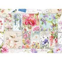 Puzzle Jumbo Sellos de flores de 1000 Piezas