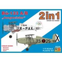 "Bucker Bu-133A/B incluye 2 kits ""Jungmeister"" 1/72"