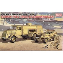 WWII German Fuel Truck and Schwimwagen 1/72