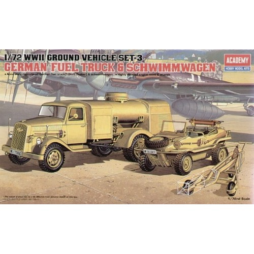 WWII German Fuel Truck and Schwimwagen 1/72