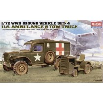 WWII US Ambulance and Airfield Bomb Towing Tractor 1/72