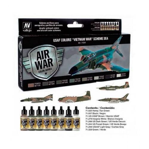 Set Model Air colores USAF guerra de Vietnam