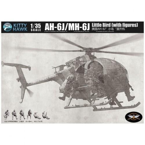 AH-6J/MH-6J Little Bird Nightstalkers con 6 figuras de resina 1/35