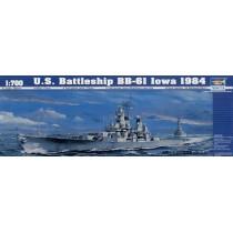 USS Battleship BB-6I Iowa 1984 1/700