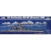 US Battleship BB-63 Missouri 1991 1/700