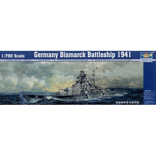 Bismark/Bismarck German battleship 1/700