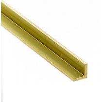 Ángulo de latón 1x1 mm. ( 1 pieza) 305 mm. largo