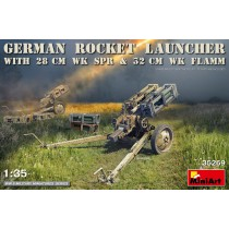 GERMAN ROCKET LAUNCHER with 28cm WK Spr & 32cm WK Flamm  1/35