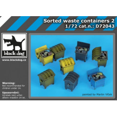 Sorted waste containers 1/72