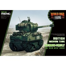 British tank Sherman Firefly World War Toon