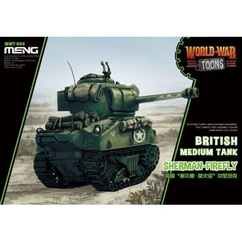 British tank Sherman Firefly World War Toon