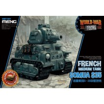 French tank Somua S-35 World War Toon