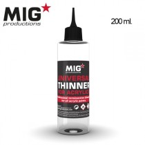 Professional tensioactive thinner for all acrylic paints. 200 ml.