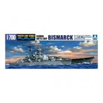 GERMAN BATTLESHIP BISMARCK 1/700