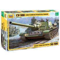 Soviet SU-100 tank Destroyer 1/35