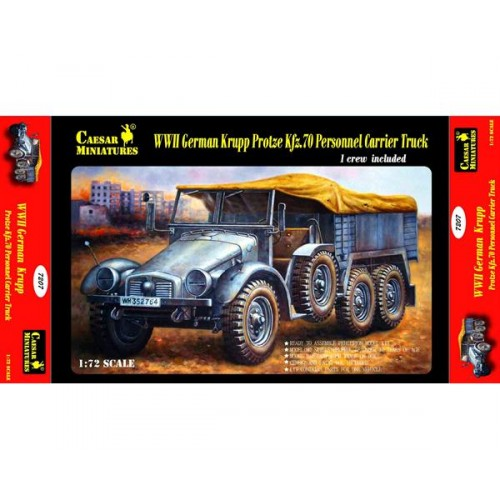 German Krupp Protze Kfz.70 Personnel Carrier Truck 1/72