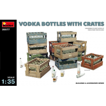 Vodka and Schnapps bottles and transportation/packaging crates
