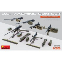 U.S. Machine gun set with etched parts  1/35